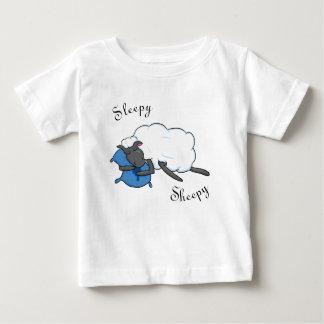 Schläfriges Sheepy Baby-Shirt Baby T-shirt