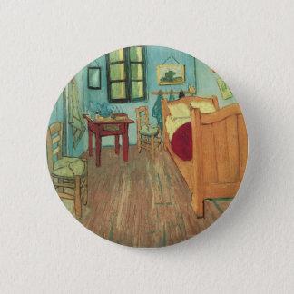 Schlafzimmer in Arles durch Vincent van Gogh Runder Button 5,1 Cm