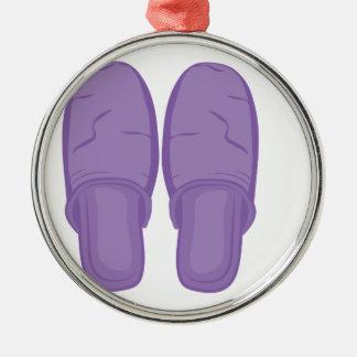 Schlafzimmer-Pantoffel Silbernes Ornament