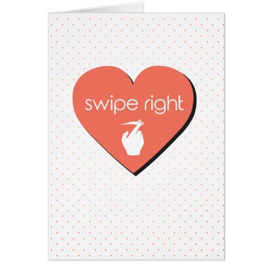 Schlag-rechtes Süßigkeits-Herz Karte