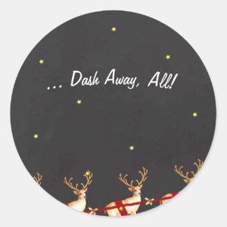 Schlag weg, alle! Weihnachtsren-Aufkleber Runder Aufkleber