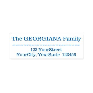 Schläge + Kundenspezifischer Familienname + Permastempel
