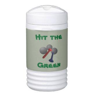 Schlagen Sie das Grün Igloo Getränke Kühlhalter