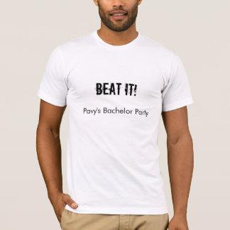 SCHLAGEN SIE ES! T-Shirt, Junggeselle-Party T-Shirt