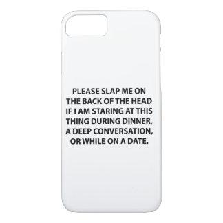 Schlagen Sie mich bitte auf der Rückseite. Fall iPhone 8/7 Hülle