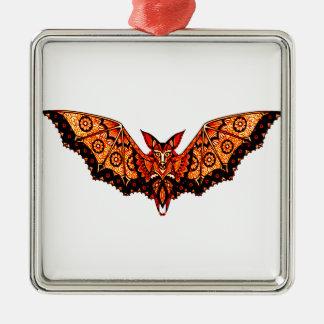 Schläger 1 quadratisches silberfarbenes ornament