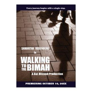 Schläger Mitzvah Bimah Einladung