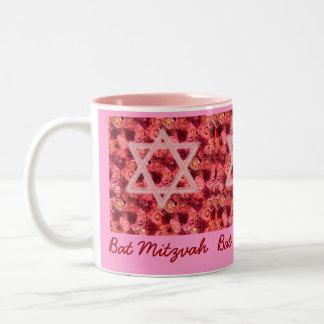 Schläger Mitzvah Rosen-Stern-Tasse Zweifarbige Tasse