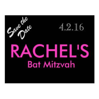 Schläger Mitzvah Save the Date Postkarte