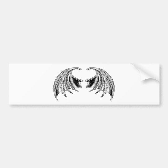 Schläger-oder Drache-Flügel Autoaufkleber