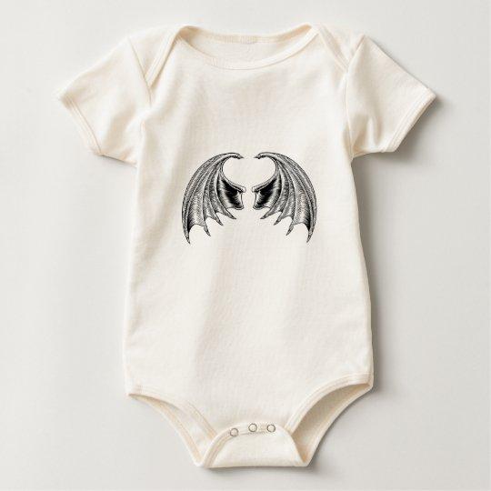 Schläger-oder Drache-Flügel Baby Strampler