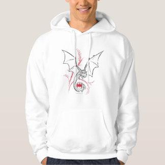 Schläger-rotes schwarzes Logo Batman-Symbol-| Hoodie