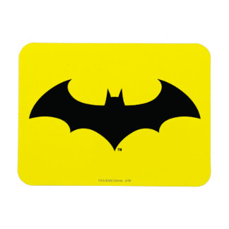 Schläger-Silhouette-Logo des Batman-Symbol-| Vinyl Magnet