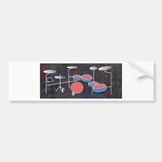 Schlagzeug-Farbe Autoaufkleber