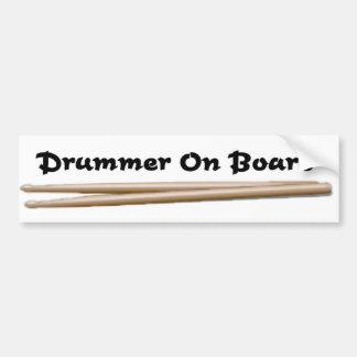 Schlagzeuger an Bord 01 Autoaufkleber