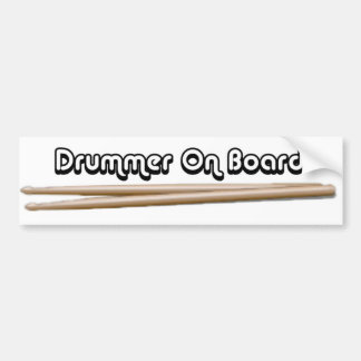 Schlagzeuger an Bord 02 Autoaufkleber