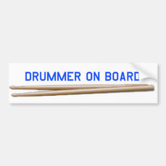 Schlagzeuger an Bord 04 Autoaufkleber