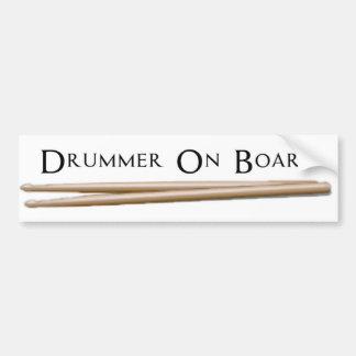 Schlagzeuger an Bord 07 Autoaufkleber