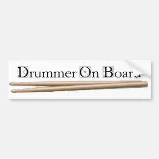 Schlagzeuger an Bord 08 Autoaufkleber