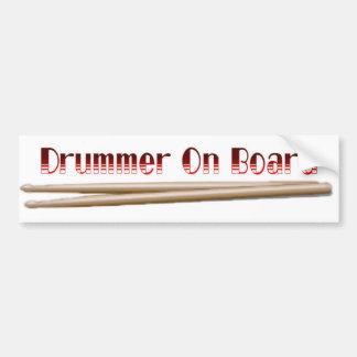 Schlagzeuger an Bord 10 Autoaufkleber