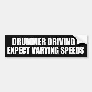 Schlagzeuger, der unterschiedlichen autoaufkleber