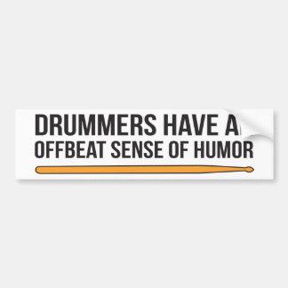 Schlagzeuger haben eine Offbeat Richtung des Autoaufkleber