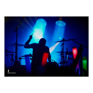 Schlagzeuger Silohuette Poster