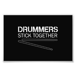 Schlagzeuger-Stock zusammen Fotografische Drucke