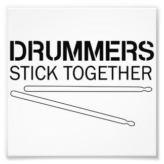 Schlagzeuger-Stock zusammen Photographischer Druck