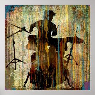 Schlagzeuger-Streifen, Copyright Karen J Williams Poster