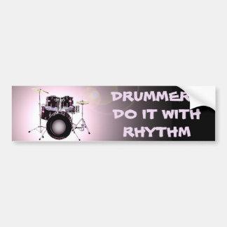 Schlagzeuger tun es mit Rhythmus Autoaufkleber