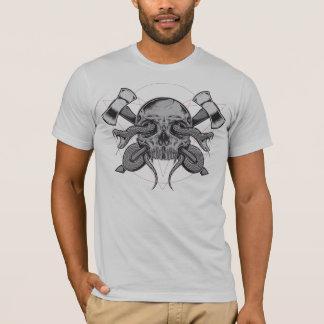Schlange und Schädel mit ÄXTEN T-Shirt