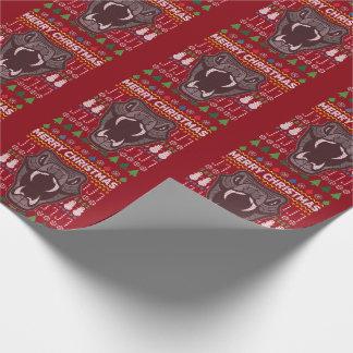 Schlangen-frohe Weihnacht-hässliche Einpackpapier