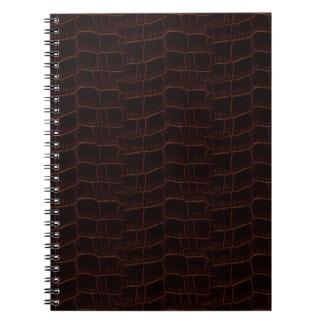 Schlangen-Haut-Leder-Notizbuch 4b - Notizblock