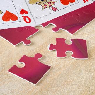 Schlangen-König und Königin der Herz-Spielkarten