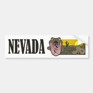 Schlangen-Staat von Nevada USA: Klapperschlange Autoaufkleber