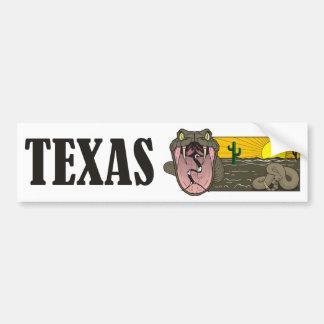 Schlangen-Staat von Texas, USA: Klapperschlange Autoaufkleber