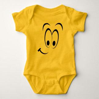 Schlaues Gesichtemoticon-Baby-Kostüm Baby Strampler