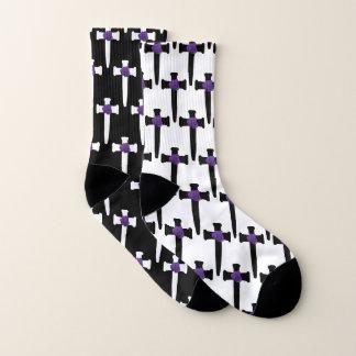 Schlecht zusammengestellte Querschwarzweiss-socken Socken