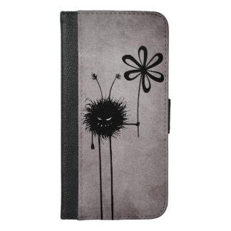 Schlechte Blumen-Wanze Vintag iPhone 6/6s Plus Geldbeutel Hülle