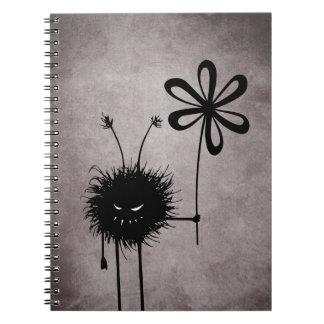 Schlechte Blumen-Wanze Vintag Notizblock