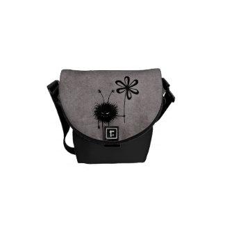 Schlechte Blumen-Wanzen-Vintages Mini Kurier Taschen