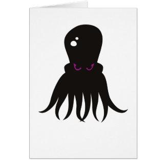 Schlechte Kraken-Gruß-Karte Grußkarte