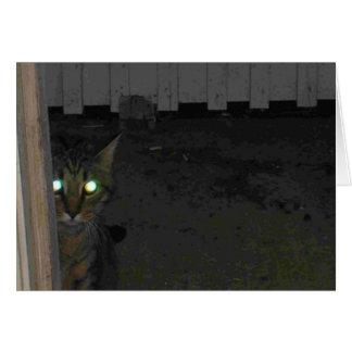 Schlechte mit Augen Kätzchen-Karte Grußkarte