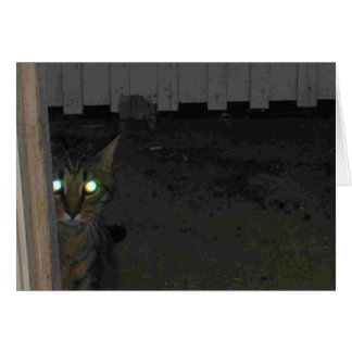 Schlechte mit Augen Kätzchen-Karte Karte