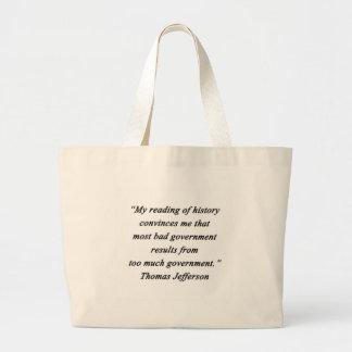 Schlechte Regierung - Thomas Jefferson Jumbo Stoffbeutel