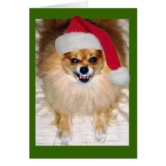 Schlechte Sankt-Weihnachtskarte Karte