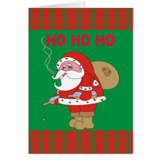 Schlechte Weihnachtsgruß-Karte Sankt lustige, Ho Karte