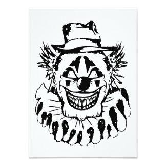 Schlechter beängstigender Clown Halloween 11,4 X 15,9 Cm Einladungskarte