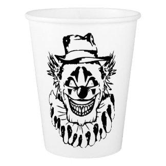 Schlechter beängstigender Clown Halloween Pappbecher